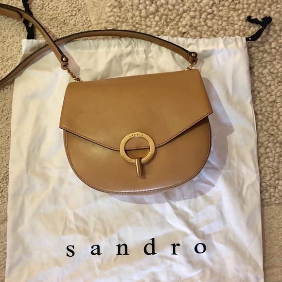 ccac7ae536c8 Sandro pepita leather crossbody bag. M 5bb7d362df03074d1a8e526c